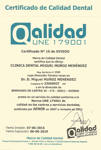 Certificado Calidad Oviedo